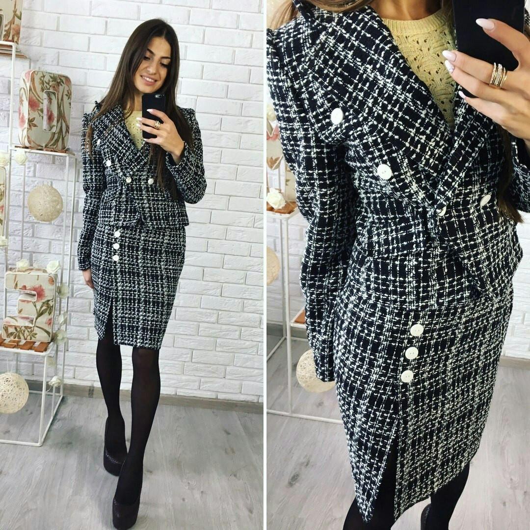 Пиджак и юбка шанель