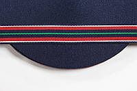 ТЖ 20мм репс (50м) т.синий+красный+белый+зеленый , фото 1