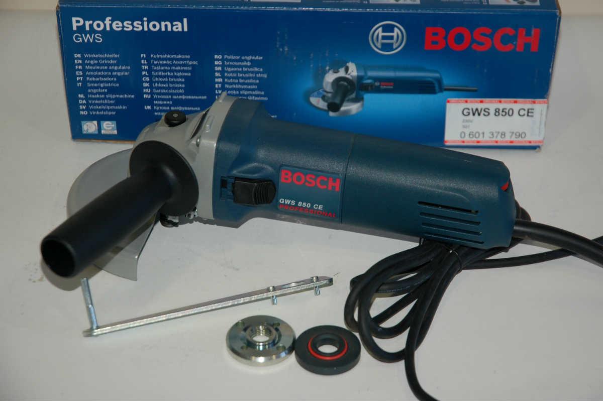Угловая шлифмашина (болгарка) Bosch GWS 850 CE, 0601378793