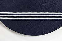 ТЖ 20мм репс (50м) т.синий+белый, фото 1