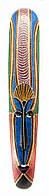 Маска расписная деревянная (100х16х3 см)