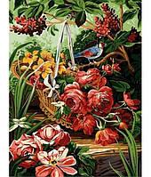 Картина по номерам Turbo Корзинка с розами VK145