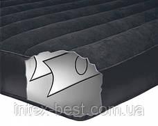 Двуспальный надувной матрас Intex 66780 (137х191х30 см.) с электрическим насосом., фото 3