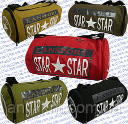 Спортивная сумка-бочёнок средних размеров