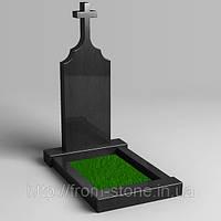 Одинарный памятник с крестом сверху ОД - 010