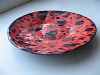 Тарелка декоративная глиняная, ручная работа