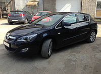 Молдинги на двери Opel Astra J рестайлинг. 2012-2015