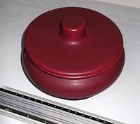 Глиняная вазочка с крышкой б/у