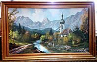 """Картина """"Церьковь в горах """""""