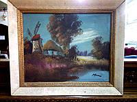 """Картина """"Мельница возле озера"""""""