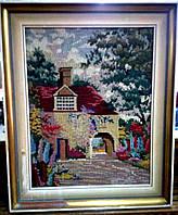 """Вышитая картина """"Уютный дворик"""""""