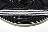 Тесьма 20мм (50м) черный+белый , фото 1
