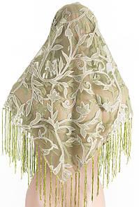 Платок сетка зеленый