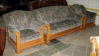 Оригинальный гарнитур мягкой мебели на дубовом каркасе, 3+1+1