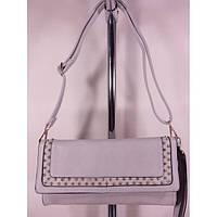 Стильная женская сумка 7255 Светло Серый Клатч