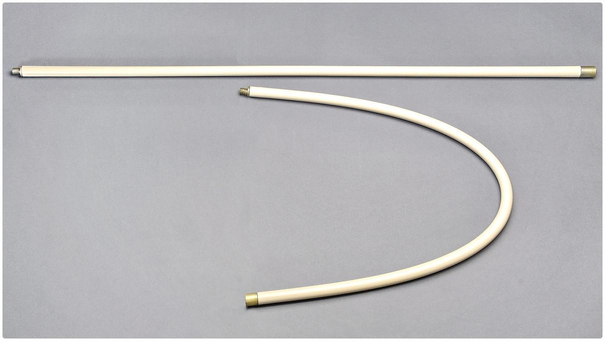 Гибкая ручка к щетке для очистки дымохода длина  1 м. 1 шт в упаковке .