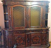 Старинный деревянный сервант-буфет (витрина), мебель из Европы б\у