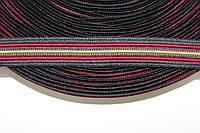 Тесьма 20мм (50м) черный+бордовый+т.беж , фото 1