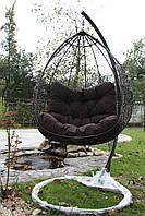 Подвесные качели из ротанга, кресло качалка кокон, плетеное кресло, качеля в доме, фото 1