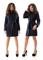 Кашемировое пальто длинной до колена с брошью в комплекте