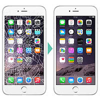 Ремонт разбитого экрана iPhone 6S (защитного стекла и поляризационной пленки), черный или белый цвет