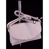 Стильная женская сумка M-016 Светло Серый Клатч