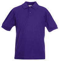 Детская фиолетовая футболка поло (Премиум)