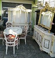 Итальянская столовая. Cтоловый гарнитур барокко SILIK