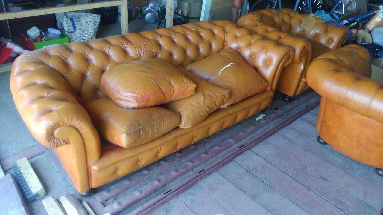 Комплект мягкой мебели Честерфилд 3+1+1. Под реставрацию. -  Torba Super в Харькове