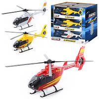 Вертолет 1372250  21,5 см, звук, свет, в коробке, на батарейке (табл), 9 шт (3цвета) в дисплее