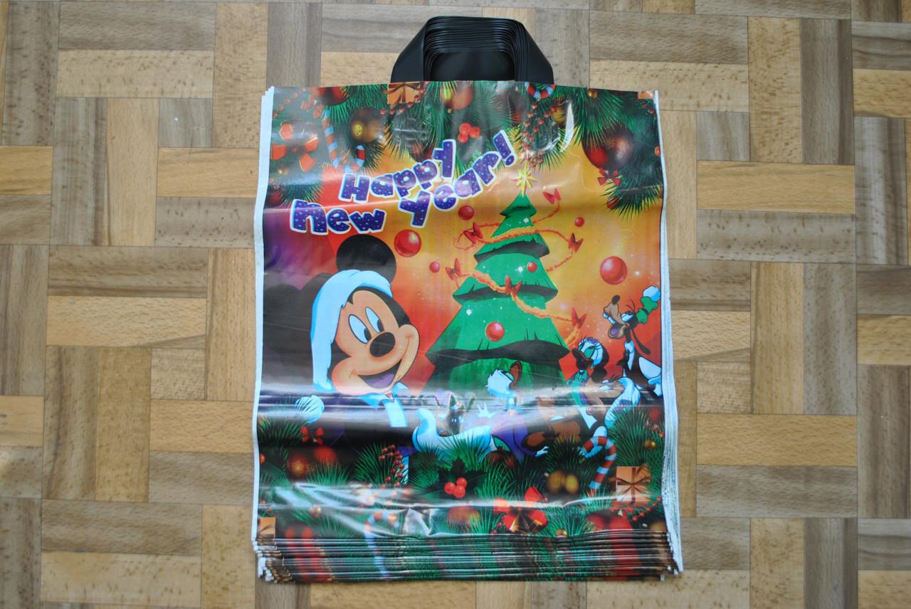Пакет з петлевий ручкою Міккі Зима 38*43 см