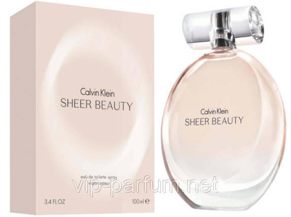 Calvin Klein Sheer Beauty туалетная вода 100 ml. (Кельвин Кляйн Шер Бьюти), фото 2