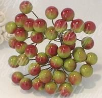 Ягоды калина красно-зеленые на проволочке 10 шт.