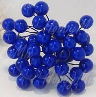 Ягоды черника_синяя на проволочке 10 шт.