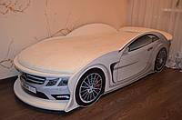 """Детская кровать машина """"Mercedes"""" белая с матрасом"""