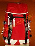 Рюкзак туристический городской спортивный FANG DONG 9000 красный, фото 2