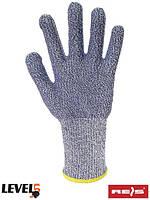 Защитные перчатки, изготовленные из пряжи из смеси полиэтилена высокой плотности R-CUT5FOOD NW