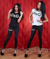 """Костюмчик """"D&G"""" (лосины + футболка), фото 1"""