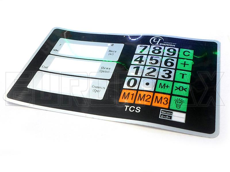 Наклейка на кнопки клавиатуры головы платформенных весов KEY-01113