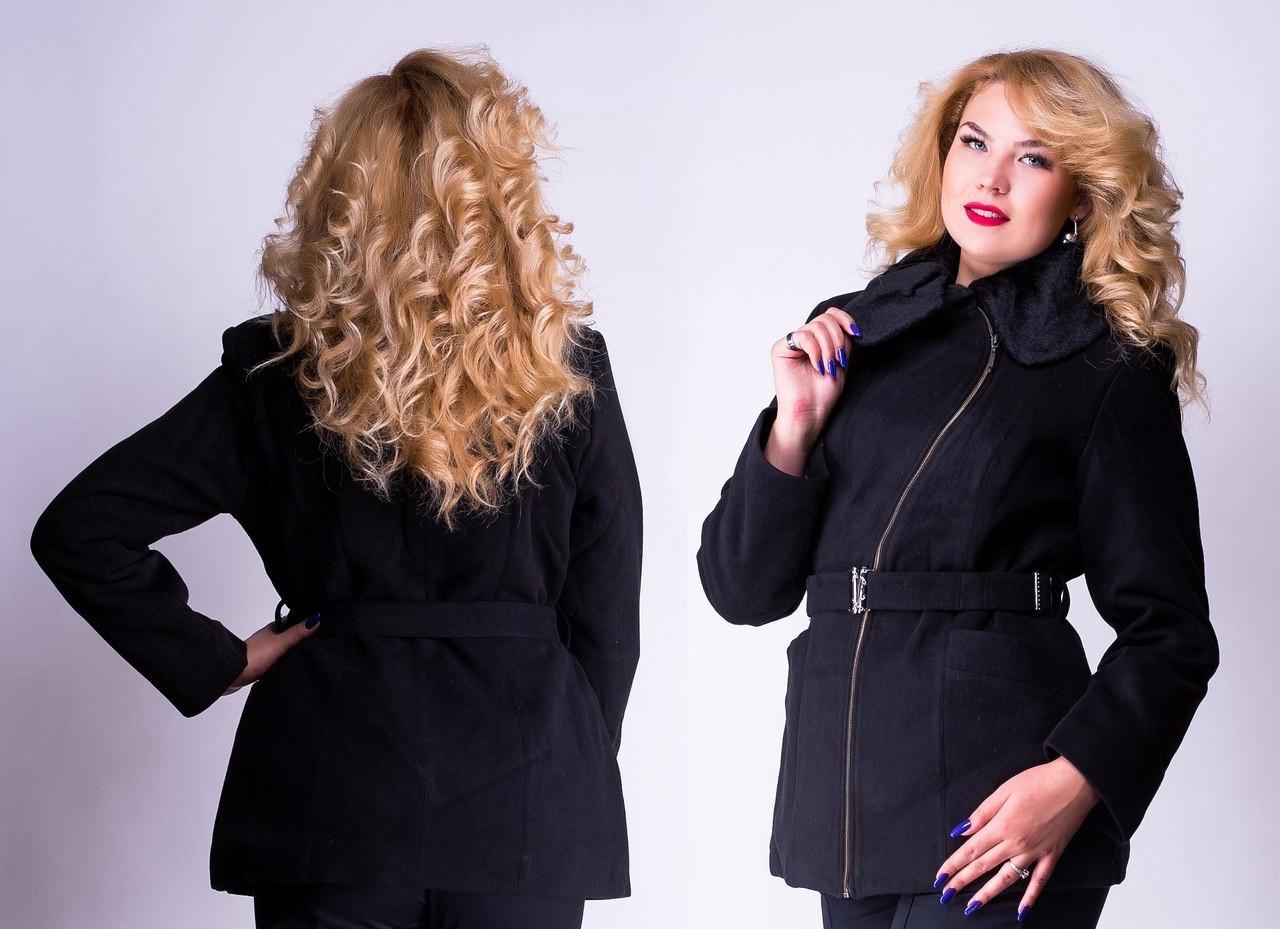 Женская куртка с кашемира теплая