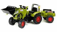 Трактор Педальный с Прицепом и двумя Ковшами Claas Axos Falk 1010Y