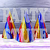 Карнавальные колпаки голограммные, полоска 16 см