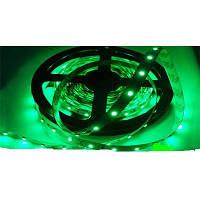 Светодиодная лента SMD 3528 на 60 диодов в 1-м метре, 4,8Вт/1м, зеленый цвет, не герметичная, гарантия 12 меся