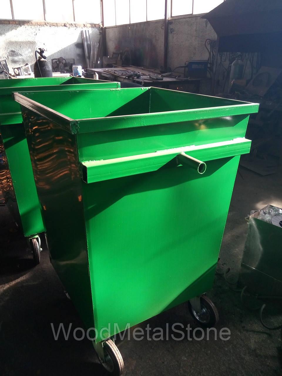 """Бак для мусора """"Универсальный"""" на колесах 0,7 м.куб. (2мм), доставка по Украине - ПП """"БУСЕЛ'' в Хмельницком"""