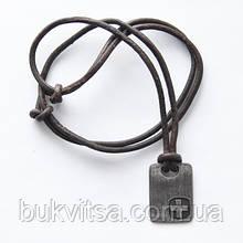 Кулон. Металлический жетон с крестом.