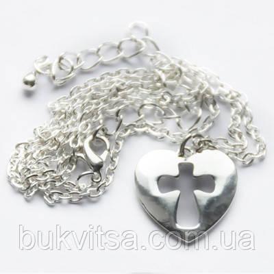 Кулон. Сердце с высеченным  крестом., фото 2