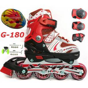 Ролики G-180 набор combo раздвижные детские размер 29-33, 34-38, фото 2