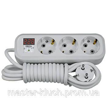 Реле контроля напряжения в розетку со шнуром ZUBR P316y