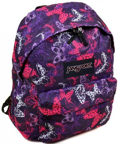 Молодежный городской рюкзак нейлон Jansport  3334-9034-2 3d, 28 л, цветной