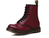 Женские ботинки Dr. Martens 1460 бордовые